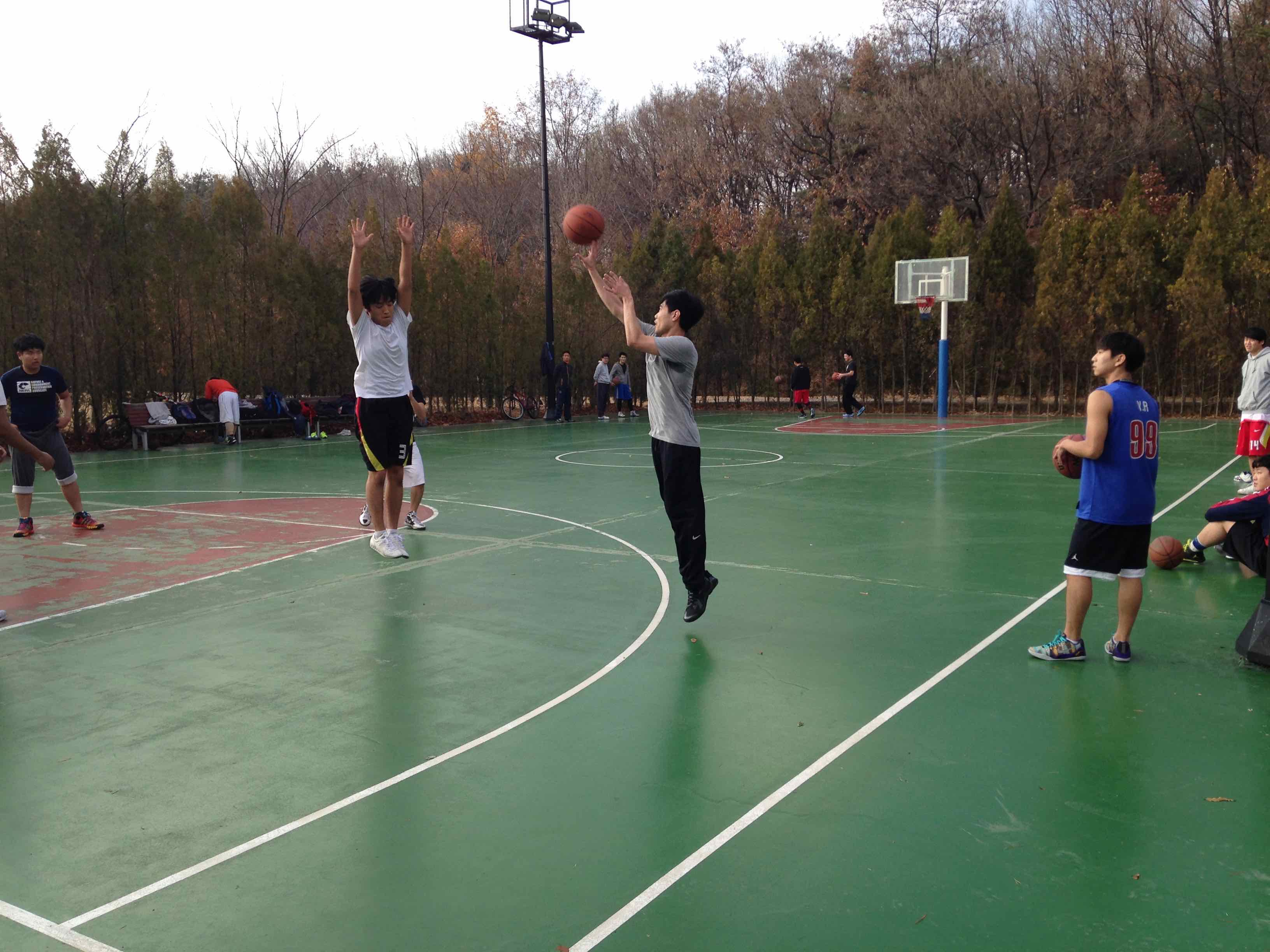 Basketball court in Jeongbalsan Park
