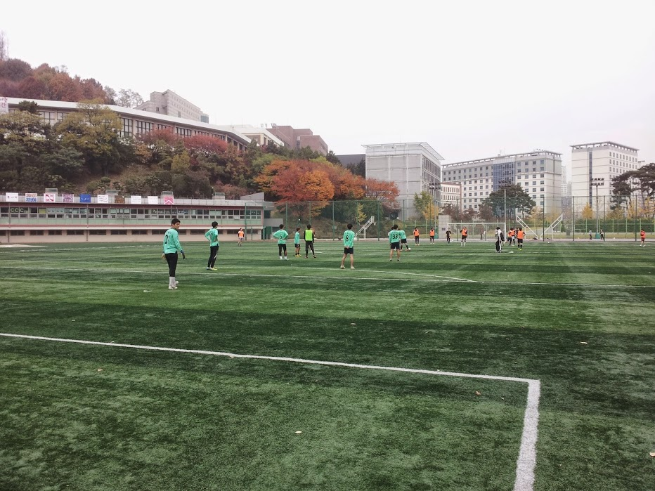 Soccer field at Sogang University
